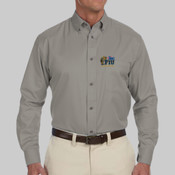 Men's Button-down - Men's Easy Blend™ Long-Sleeve Twill Shirt with Stain-Release